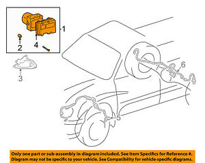 toyota oem 01 02 sequoia abs anti lock brakes modulator valve rh ebay com