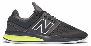 New-Balance-Male-Men-039-s-247-Sport-Style-Lightweight-Shoes-Grey-With-Green