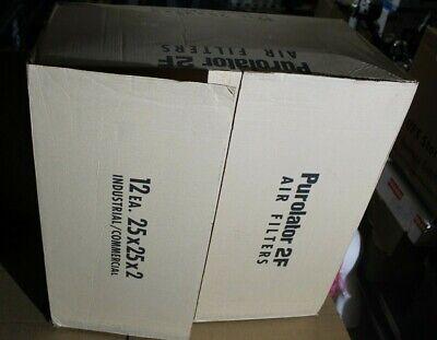 PUROLATOR PANEL FILTER MODEL F312 25 X 25 X 2 IN AIR FILTER CASE QTY 12 FURNACE