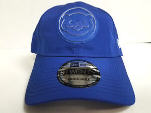 YOUTH Chicago Cubs Cap New Era 9Twenty Adjustable 2018 Clubhouse Dad ... d4d3d398116