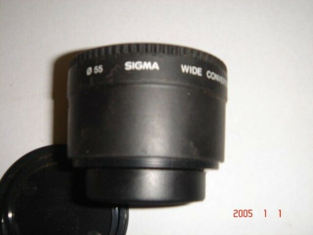 Lens Sigma 50mm, wide convertor(video cam), VWS52 and VTS52
