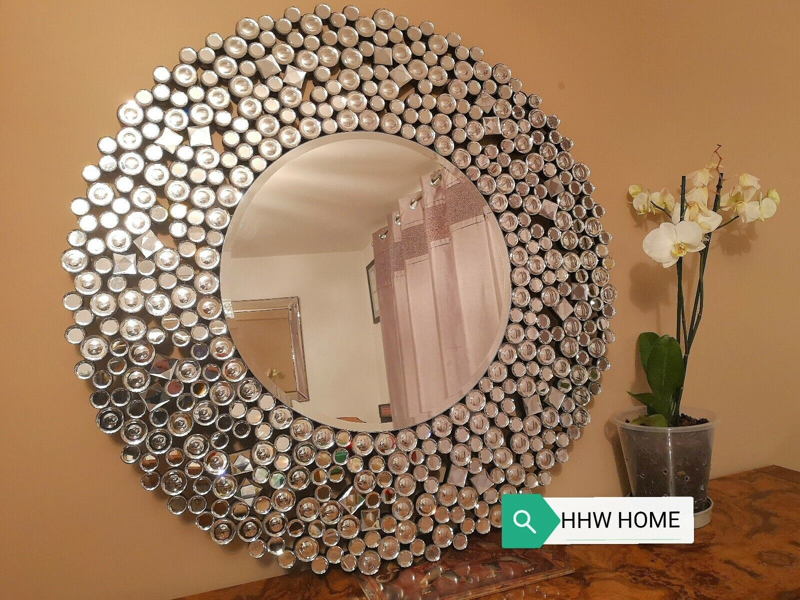 Home Decor Items Moroccan Large Silver Round Wall Mirror Art Deco Bathroom Mirrored Swirl Home Home Furniture Diy Ot Baieducotentin Fr
