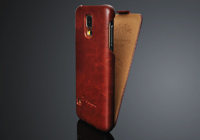 Authentic FASHION Brand Samsung Galaxy S5 I9600 Leather Flip Case Cover Free SP