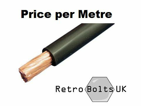 25mm2 Black Battery Triumph TR 3 4 5 6 7 Spitfire GT Earth Cable 170A