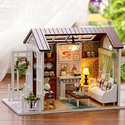 Flever Dollhouse Mini DIY House Kit Creative Room With Furniture Gift for Girls