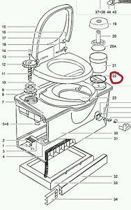 thetford cassette toilet o ring seal toilet roll holder. Black Bedroom Furniture Sets. Home Design Ideas