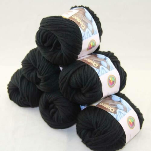 Hot Sale 6Balls X 50g Thick Chunky DIY Worsted 100/% Cotton HAND Knitting Yarn 15
