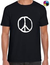 CND Antiwar Peace Sign Stencil T shirt M-XXL New Green