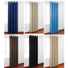 Blackout Curtain Eyelet Curtains Blackout Room Darkening W/ Rings