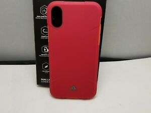 save off 8e89e dd16c Details about Adidas Solo Case Rugged Case Cover for Apple iPhone X iPhone  XS Red