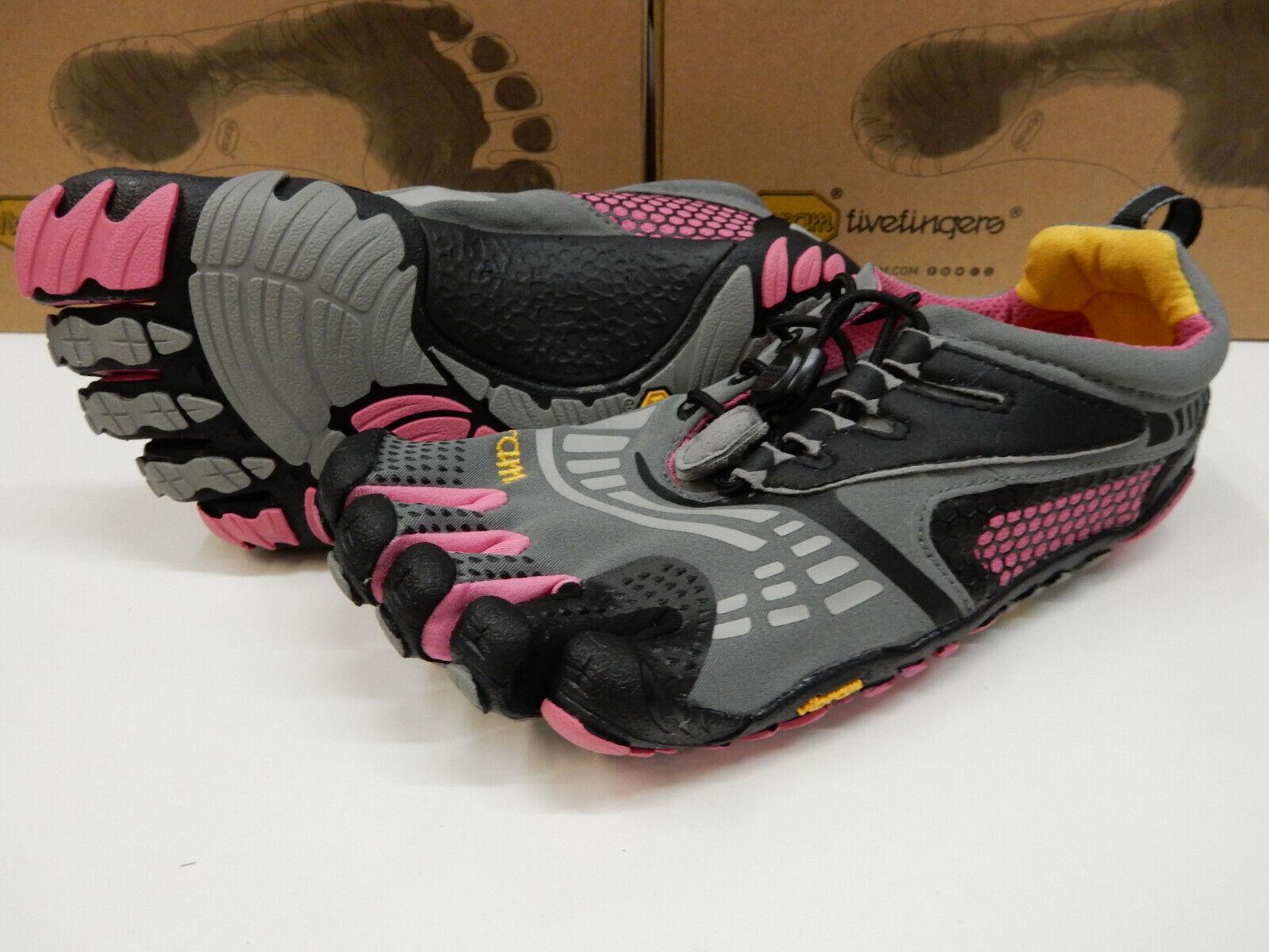 Vibram FiveFingers Womens KMD Sport LS Grey Black Pink Size Eu 40
