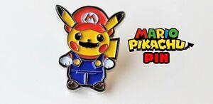 Pikachu-Super-Mario-Metal-Enamel-Pin-Nintendo-Lapel-Pinback-Collector-Promo