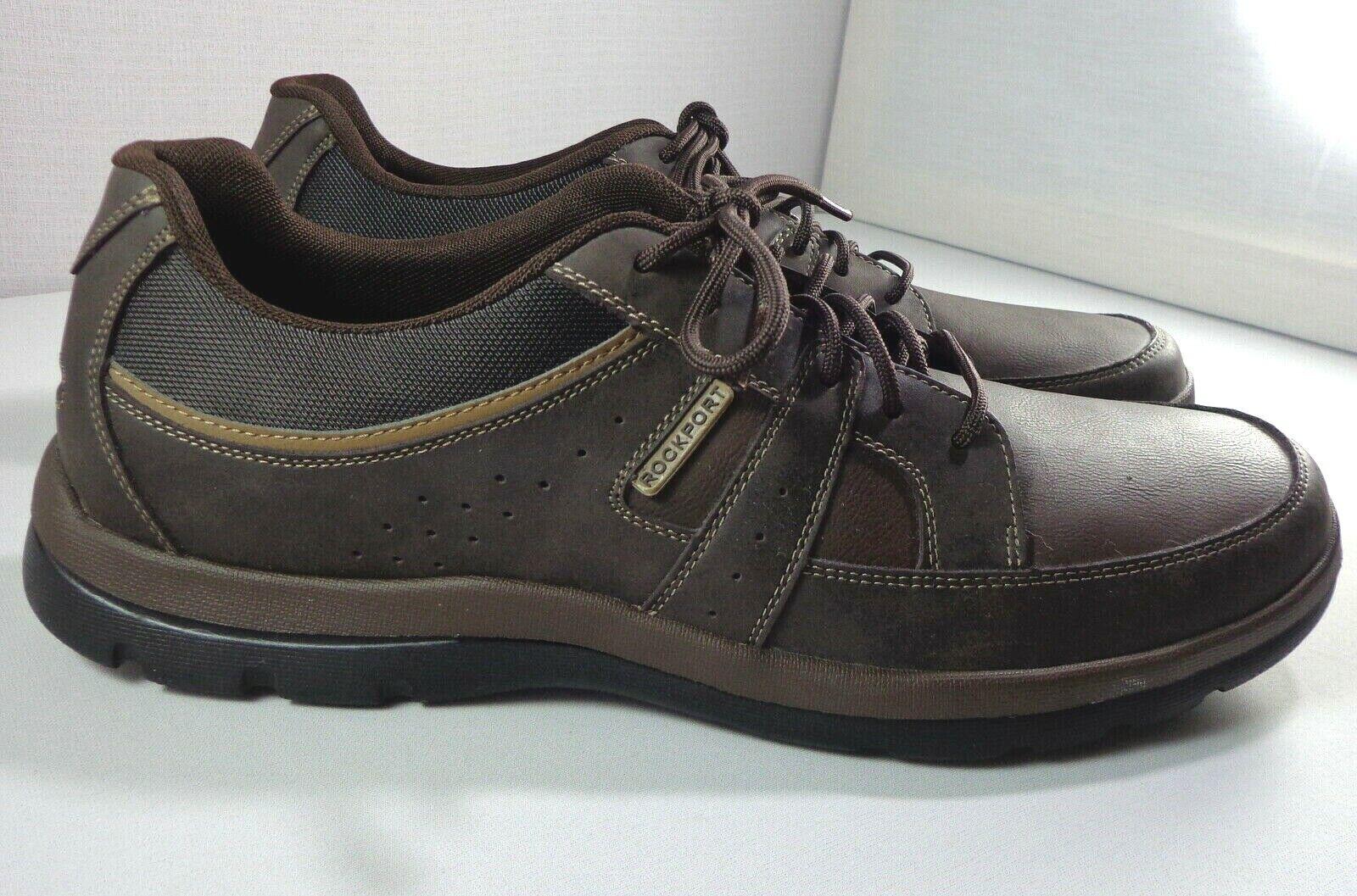 Rockport Para hombre obtener su patadas Básico Moda Cuero Marrón Zapatillas Tamaño 13