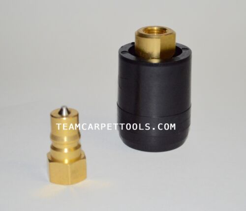 """Carpet Cleaning Wand Hose Truckmount 1//4/"""" M//F QUICK DISCONNECT with Heat Shield"""