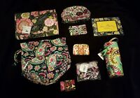 Vera Bradley Lot Purple Punch Pouch Petal Paisley Ditty Bag Picture Frame
