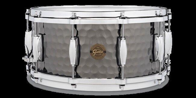 Gretsch Hammerot schwarz Steel 5.5x14 Snare Drum