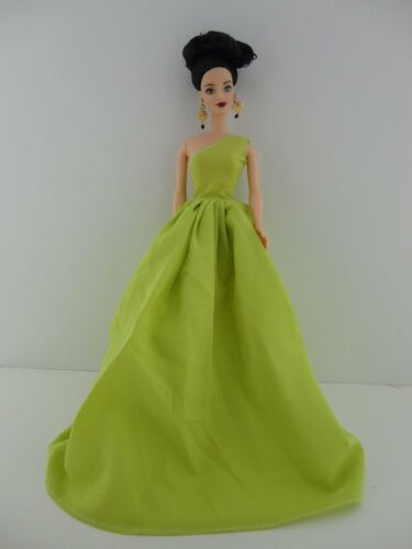 Glamorous Lime Green One Shouldered Gown Made to Fit Barbie Doll