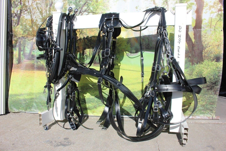 Equipo De Granito arnés de trabajo hecho en Estados Unidos para 2 caballos, mulas, Haflingers, borradores, Mini
