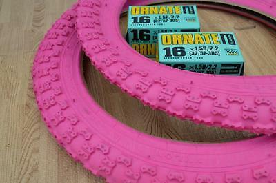 "Kids Bicycle Tires and Tubes 16x2.0 Fits 1.75 16x1.95 2.125 Black 16/"" bike"