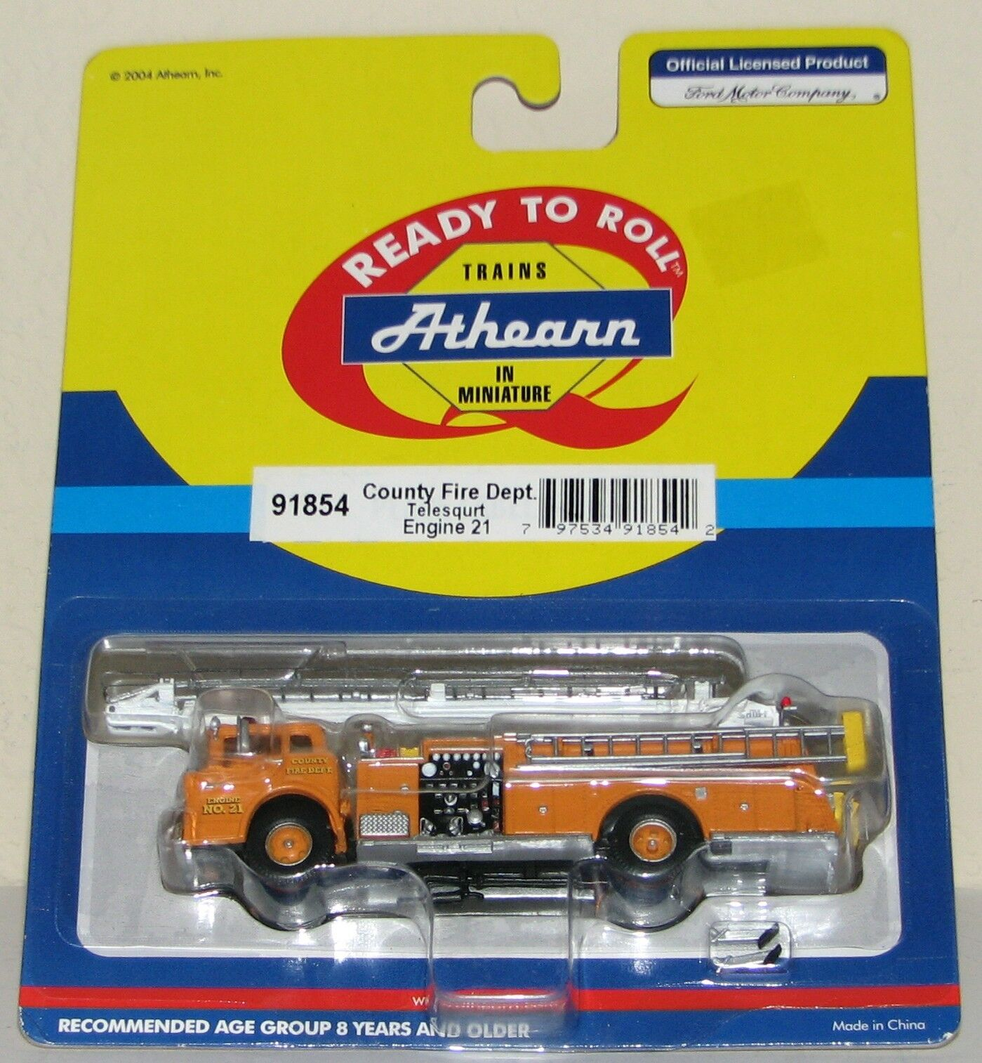 Athearn County Fire DepartSiet Telesquirt Engine  21New Old StockHO Scale
