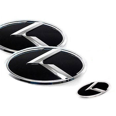 Rear Steering Wheel R logo Emblem 3p 1Set For 2008 2013 Kia Soul Front