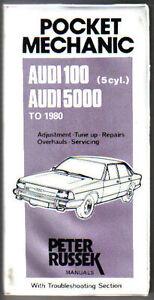 audi 100 5000 to 1980 pocket mechanic adjustment tune up peter rh ebay co uk Barbara Russek Jorge Russek