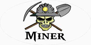 3-Miner-Skull-Coal-WV-Mining-Tool-Box-Hard-Hat-Helmet-Sticker-WV-H406