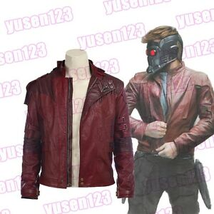 Guardians-of-the-Galaxy-2-Star-Lord-Peter-Quill-Men-Red-Coat-Jacket-Short-Jacket
