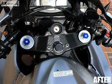 Carbon Fiber Triple Clamp Decal 2007-2012 Honda CBR600RR  CBR 600RR - 3M Vinyl