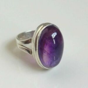 Amethyst-Ring-925-Solid-Sterling-Silver-Handmade-Jewelry-US-AMY-012