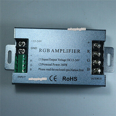 NEW 12-24V 30A RGB signal Amplifier For RGB SMD 5050 3528 LED Strip 12V-24V