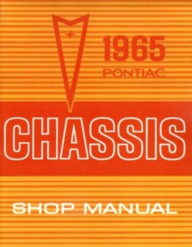 Grand Prix /& Star Chief Car Shop Manual Catalina PONTIAC 1965 Bonneville