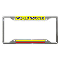 Colombia World Soccer Metal License Plate Frame Tag Holder Four Holes