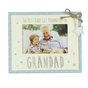 Love-Life-MDF-Double-Layer-6-039-x4-039-Photo-Frame-Best-Dads-Get-Promoted-Grandad