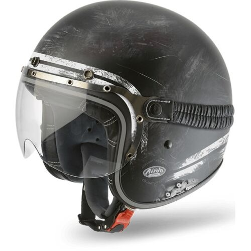 CASCO HELMET JET GARAGE RAW MATT AIROH SIZE M