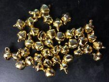 40 TINY GOLD METAL JINGLE BELLS CHRISTMAS CARD MAKING CRAFT EMBELLISHMENTS