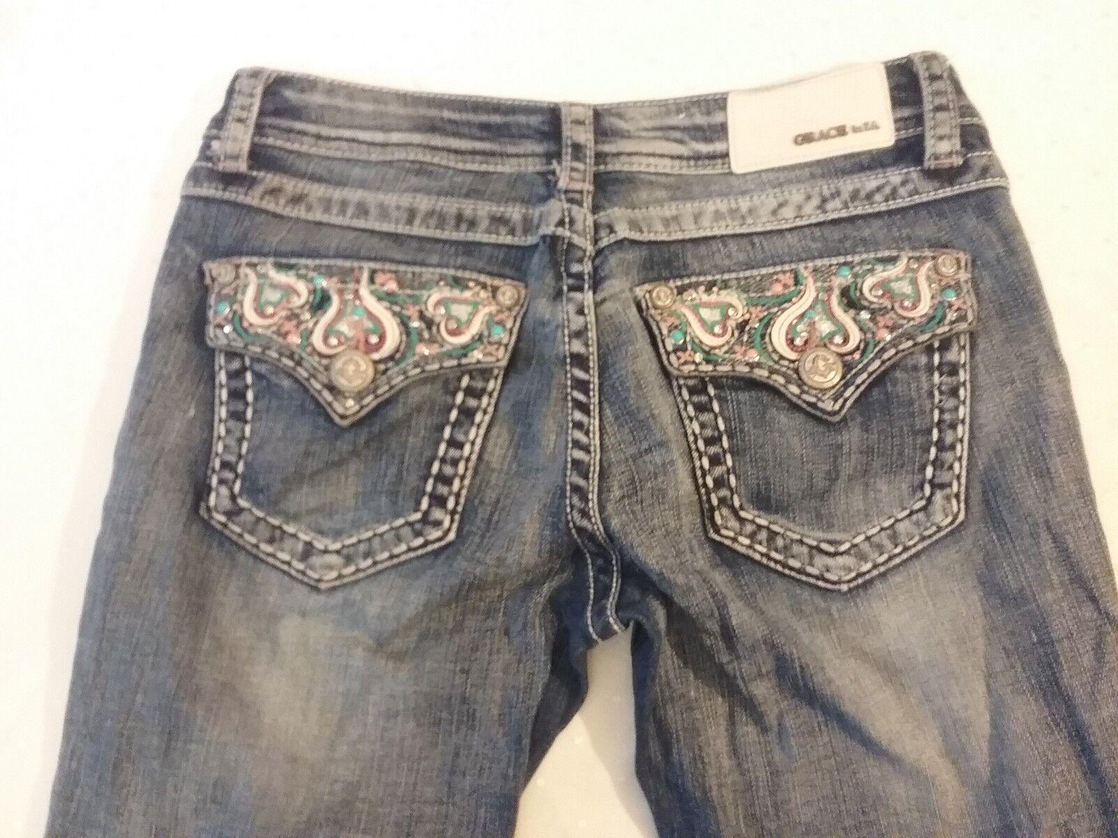 Grace in LA women's jeans boot cut size 27