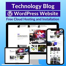 Technology Blog Business Affiliate Website Store Free Hostinginstallation