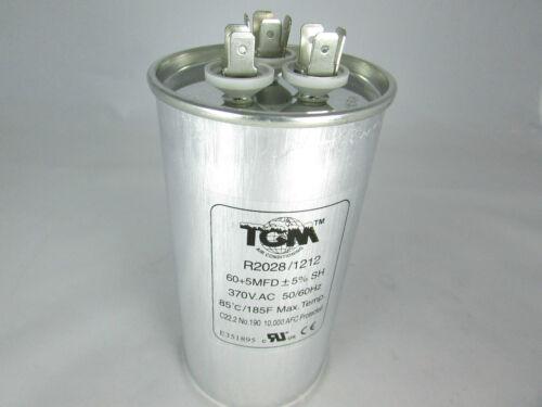 Run Capacitors 60+5 x 370v for A//C /& Refrigeration compressors /& motors New