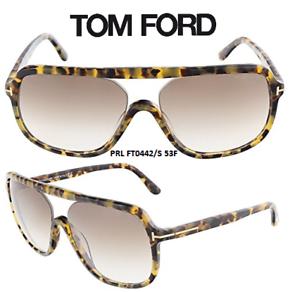 f9d9cdd6f1b2 Tom Ford TF442 53F Robert Sunglasses Light Havana Size 59 100% New ...