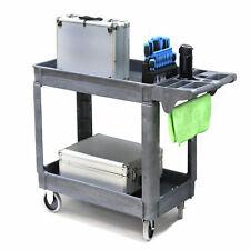 500lbs 30w X 40h X 17d Gray Plastic Utility Cart Has Shelves Antiskid Wheels