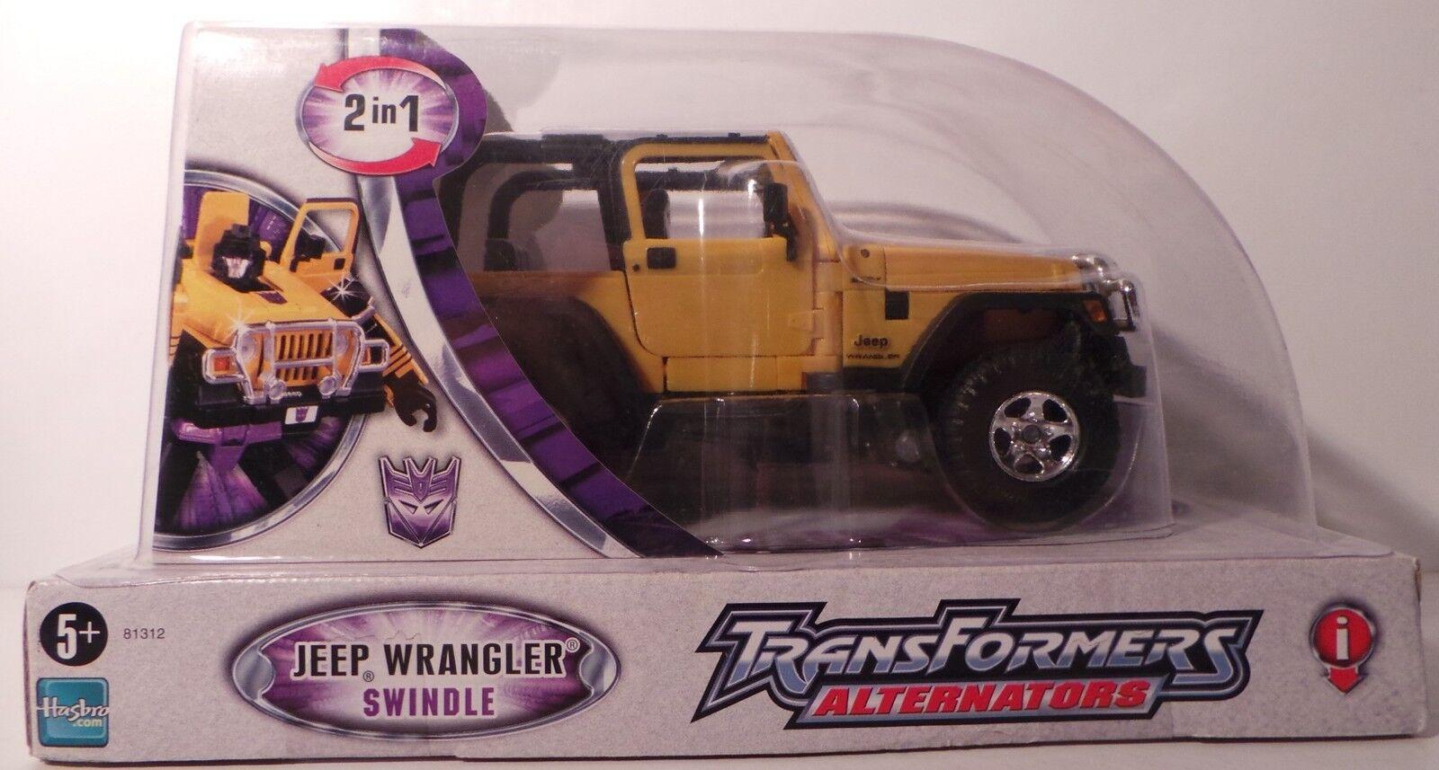 Transformers Alternadores Jeep Wrangler-Swindle-Hecho Por Hasbro