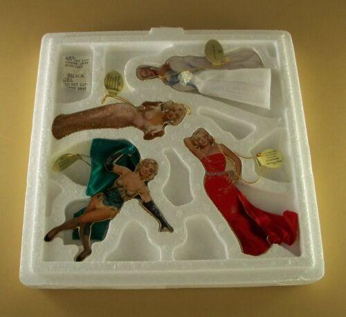THE GLAMOROUS MISS MARILYN MONROE Porcelain Ornament Set of 4 MIB COA #2