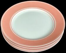 """Fitz and Floyd Rondelet Peach Salad Plates 7.5"""" - Set of 4"""