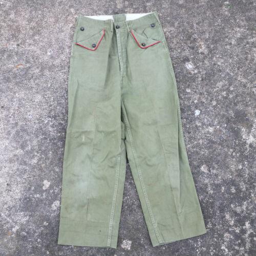 50s Boy Scout Chinos 38 x 31 Beige Olive Green Cotton Khaki Twill Pants Work Wear Men/'s Vintage BSA