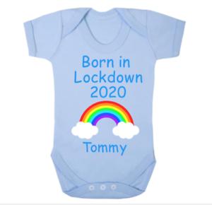 Personnalisé né à verrouillage 2020 Bleu Body//Gilet
