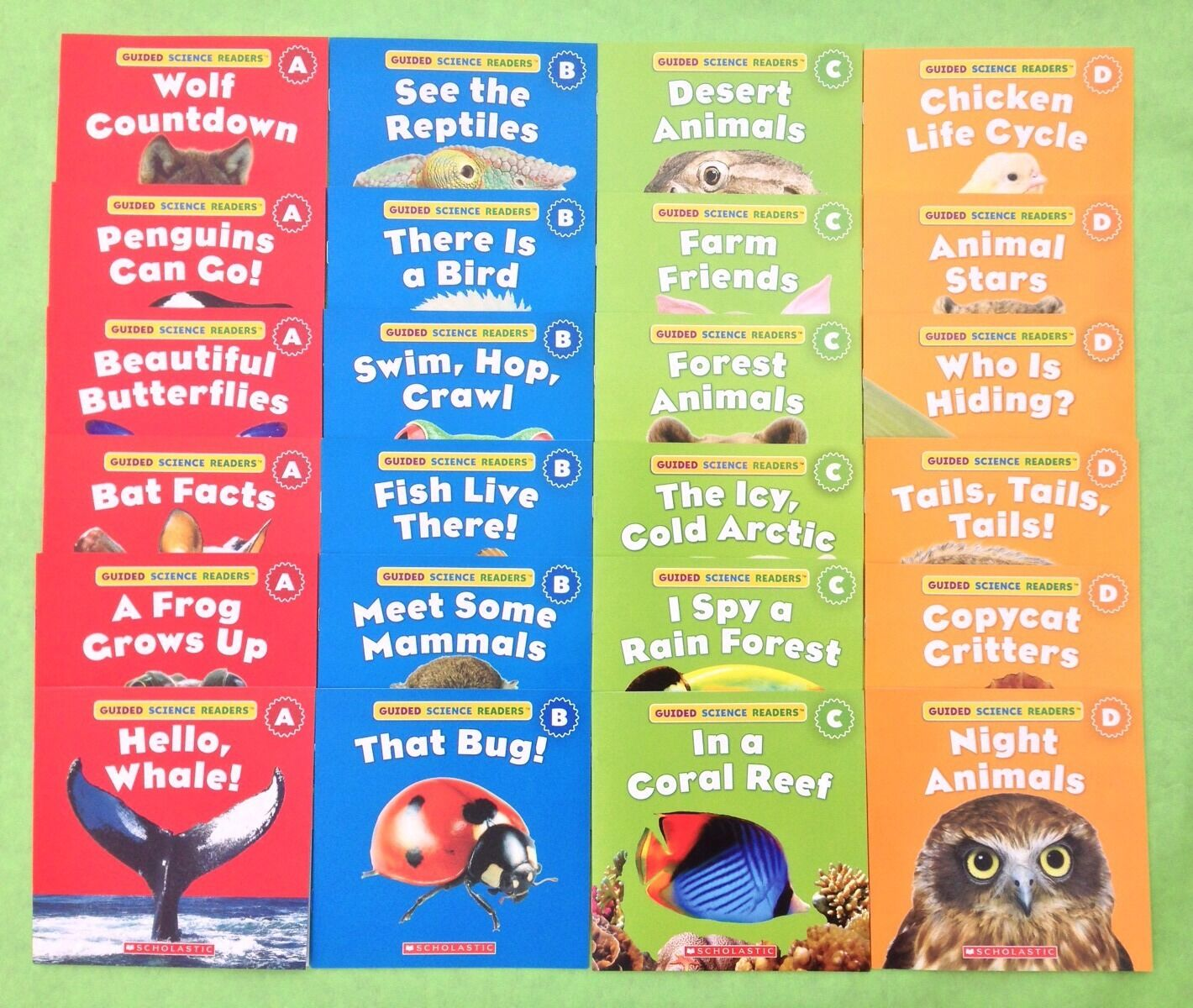 Animals Level A B C D Childrens Books Science Lot 24 2