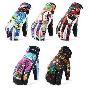 Men-Professional-Snowboard-Ski-Women-Gloves-3-Finger-Mittens-Winter-Leather-PU