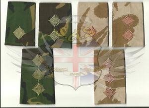 BRITISH-ARMY-SURPLUS-DPM-amp-DESERT-DPM-RANK-SLIDE-2nd-LT-LIEUTENANT-CAPTAIN