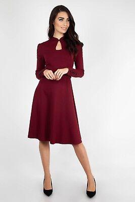 Voodoo Vixen Rouge Vin dress 50 s VINTAGE DRA8275 Rétro Rockabilly Fête de mariage